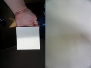 クロスと塗装を影で比較した画像