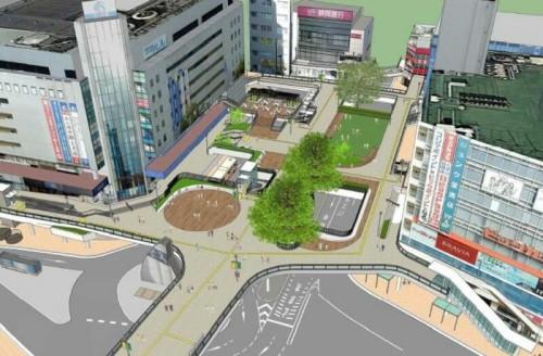 藤沢駅北口ベデストリアンデッキ完成イメージ
