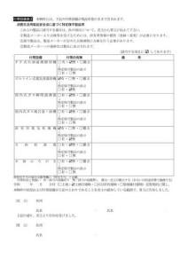 物件状況及び付帯設備確認書②-2