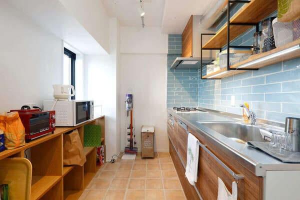 クローズ型キッチンの例