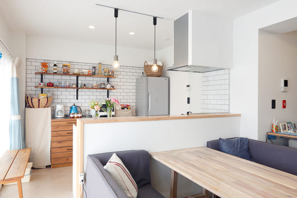 ペニンシュラ型キッチンの例