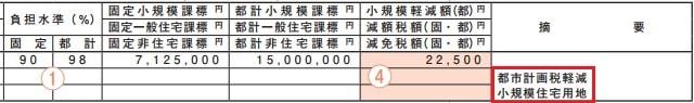 東京都の課税証明書見本(東京都主税局)
