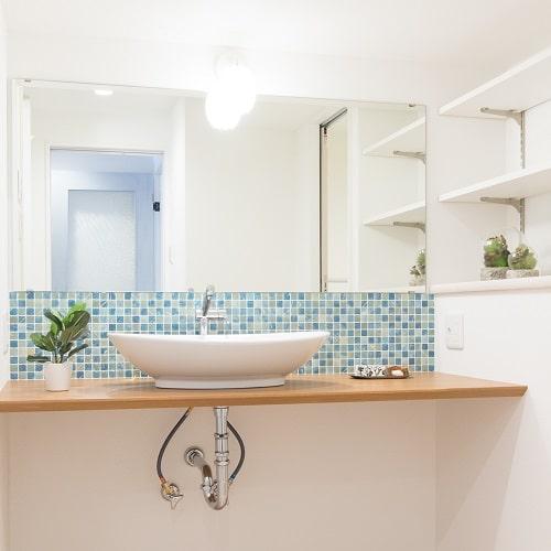 ひかリノベのリノベーション事例(洗面室)