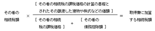 出典:国税庁「相続財産を譲渡した場合の取得費の特例」 (https://www.nta.go.jp/taxes/shiraberu/taxanswer/joto/3267.htm)