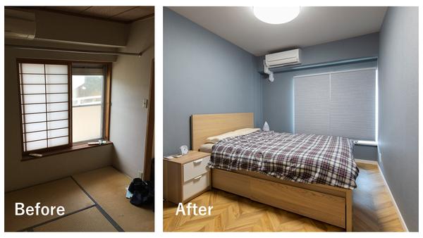 和室を主寝室にリノベーションした事例