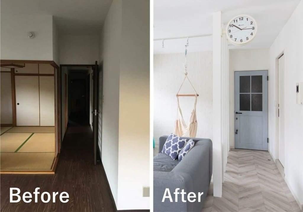 ひかリノベ|既存の和室をLDKに吸収したマンションリノベーションの事例を紹介