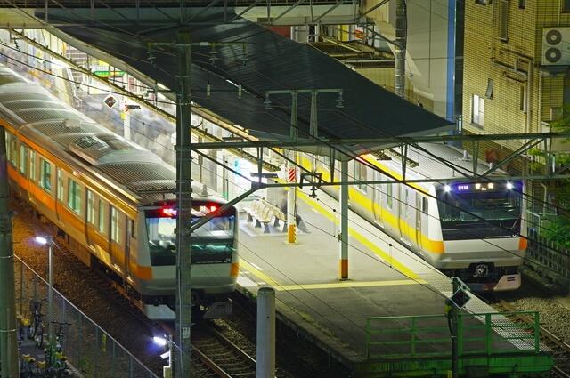 昭島駅のホーム