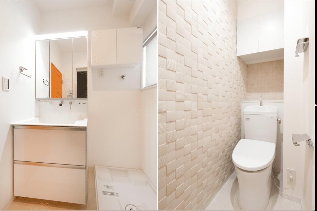 エコカラットをトイレの壁面に施工したリフォーム例