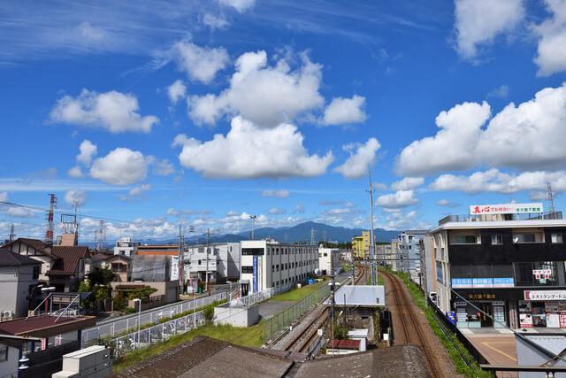 相模線寒川駅から見た景色