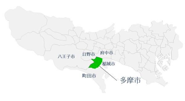 多摩市の地理