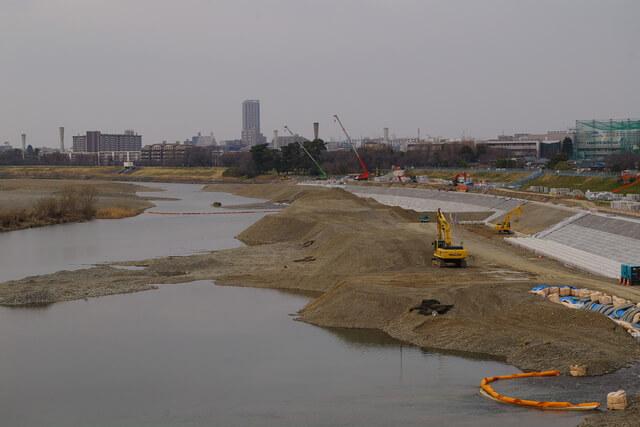 多摩川護岸工事